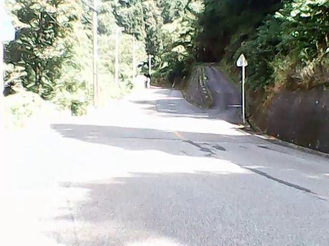 一里野ジャンプ台への道