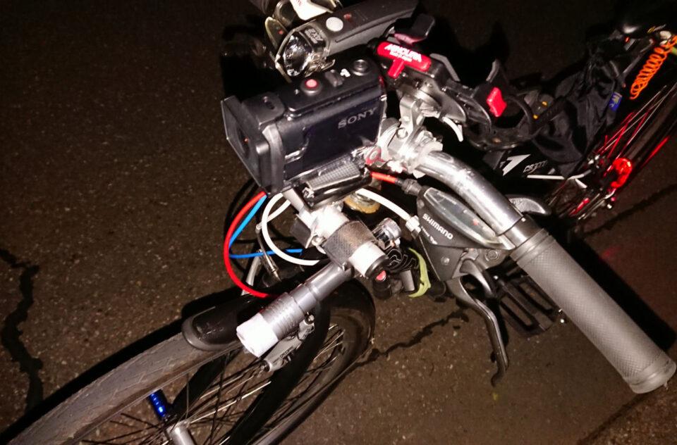 HDR-AS50を自転車のハンドルに固定