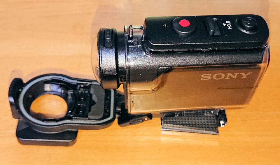 レンズプロテクター装着して防水ケースに入れた